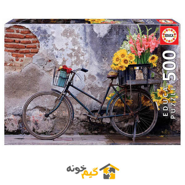 پازل bicycle-with-flowers-puzzle