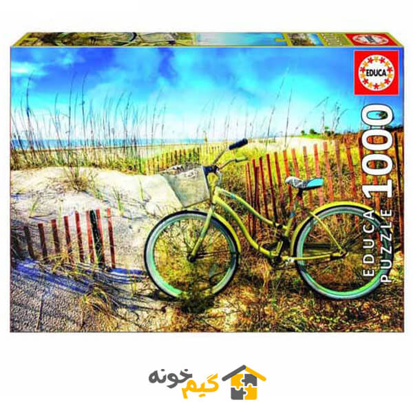 پازل دوچرخه در کنار مزرعه