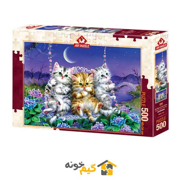 پازل بچه گربه های مهتابی