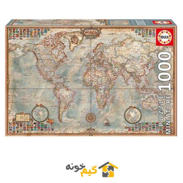 پازل نقشه سیاسی جهان