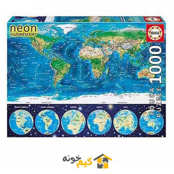 پازل نقشه جهان