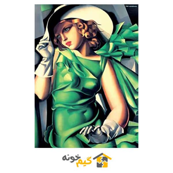 پازل دختری با لباس سبز