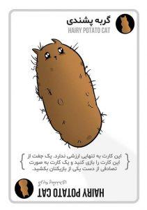 کارتهای بازی گربه های انفجاری